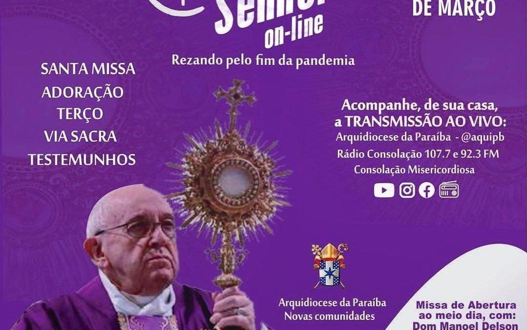 """Arquidiocese promove o """"24h para o Senhor"""" de forma virtual"""