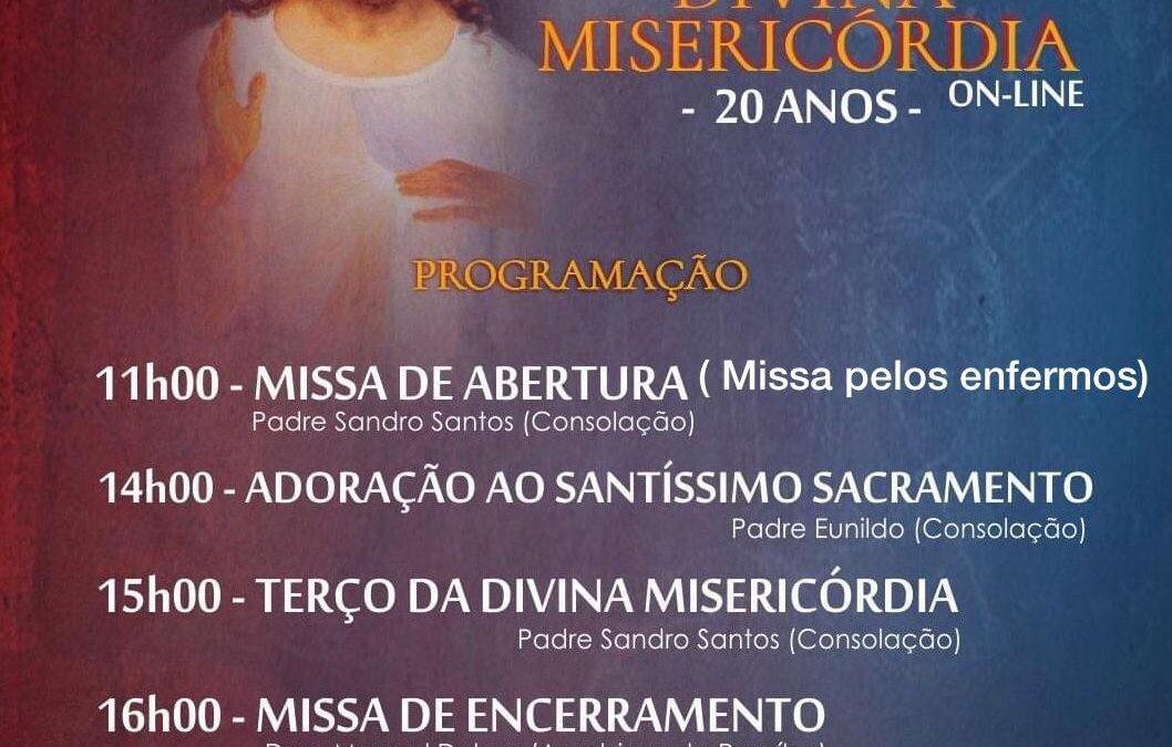 Comunidade Consolação divulga Festa da Divina Misericórdia 2021