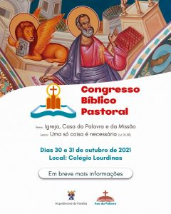 Arquidiocese promove I Congresso Bíblico Pastoral